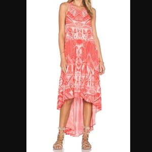 Free People La Mar Hot Coral Maxi Dress XS NWT
